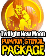 New Moon Pumpkin Stencil Package