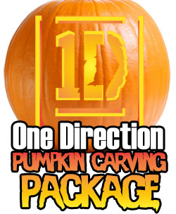 one direction pumpkin carving package ultimate pumpkin