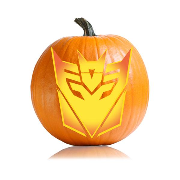 Transformers Decepticons Pumpkin Stencil Ultimate