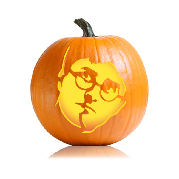 Harry potter pumpkin pattern ultimate pumpkin stencils for Harry potter pumpkin carving templates