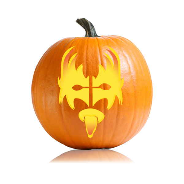 Kiss gene simmons pumpkin carving stencil ultimate