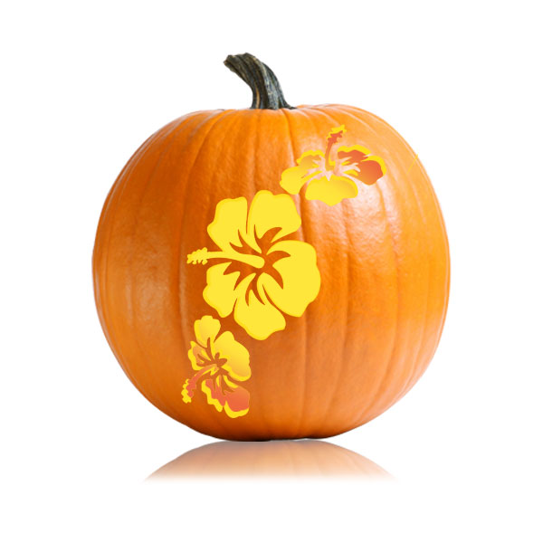summer hibiscus flower stencil ultimate pumpkin stencils