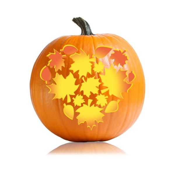 Thanksgiving Fall Heart Pumpkin Stencil