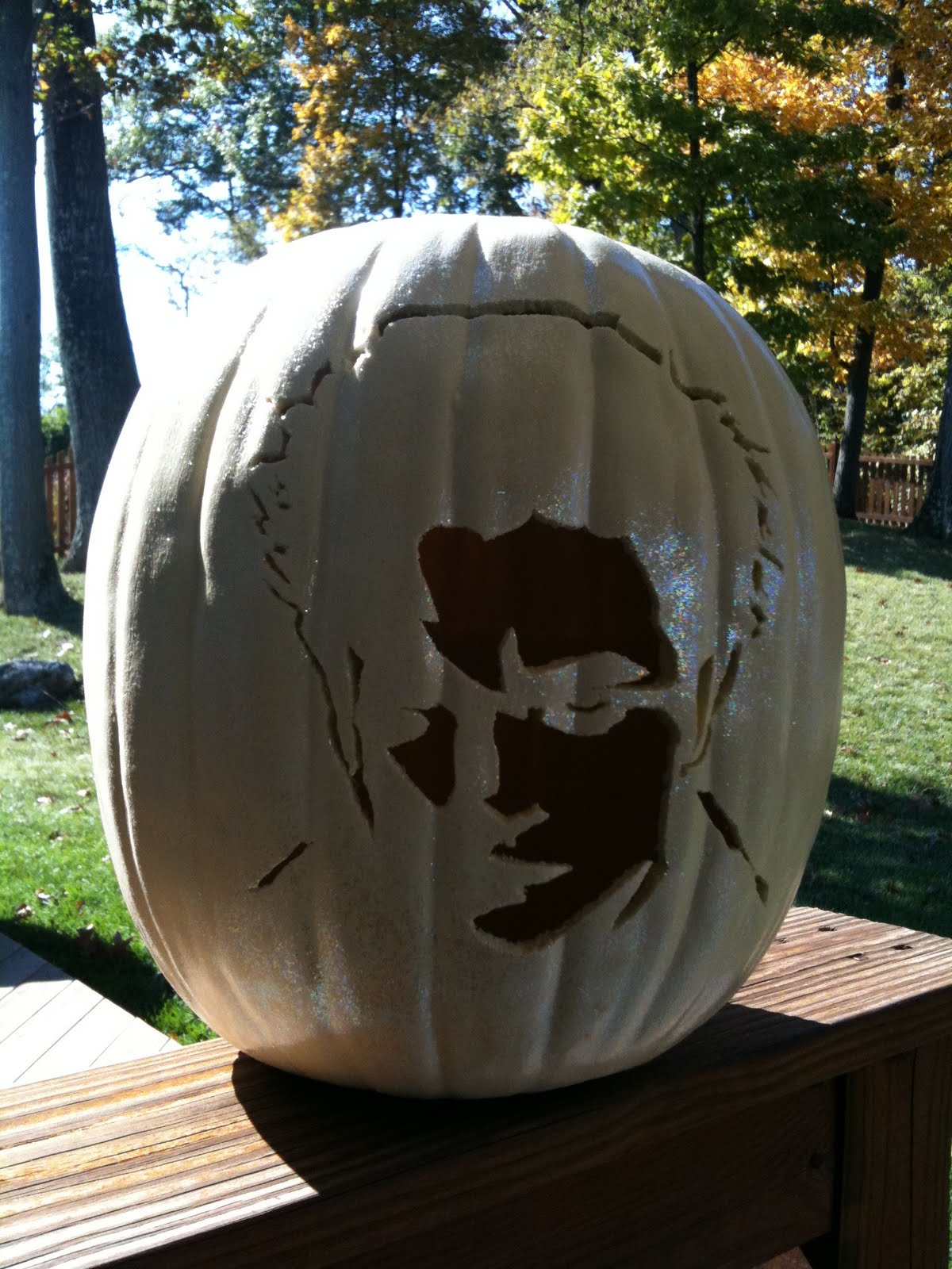 Edward Pumpkin Stencil Light