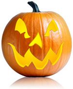 Scary face jackolantern carving pattern