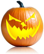 twisted jackolantern pumpkin carving pattern