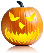 scary jack o lantern carving pattern
