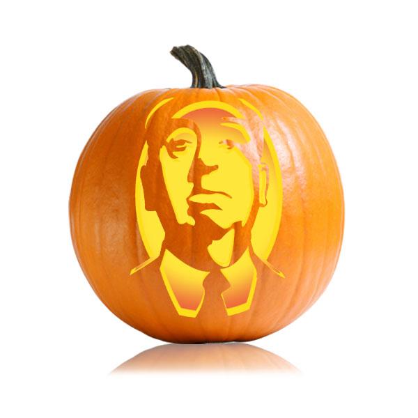 Alfred Hitchcock Pumpkin Stencil