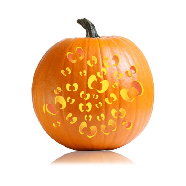 haunted eyes pumpkin carving stencil