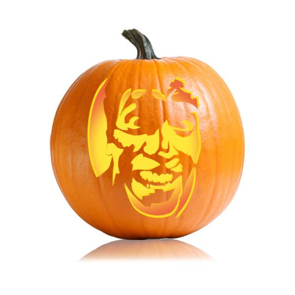 Ash - Evil Dead Pumpkin Stencil