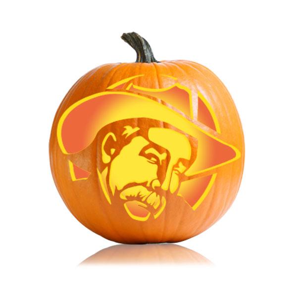 The Stranger Pumpkin Stencil