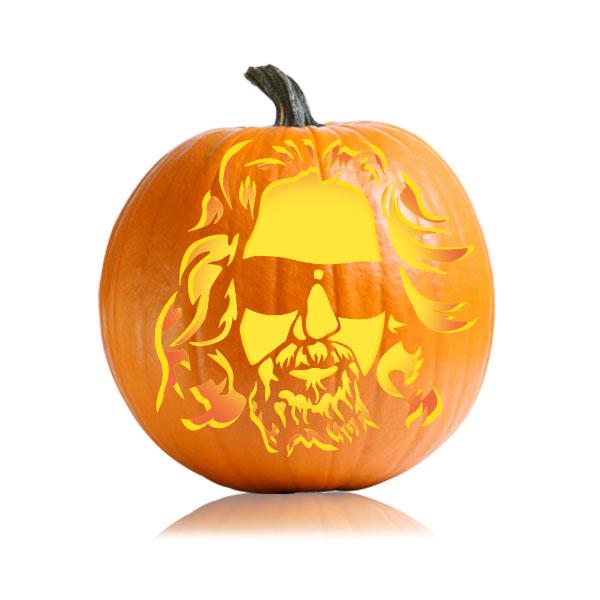 The Dude Pumpkin Stencil