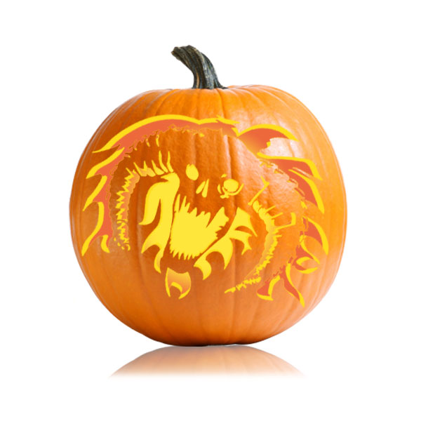 LOTR Balrog Pumpkin Stencil
