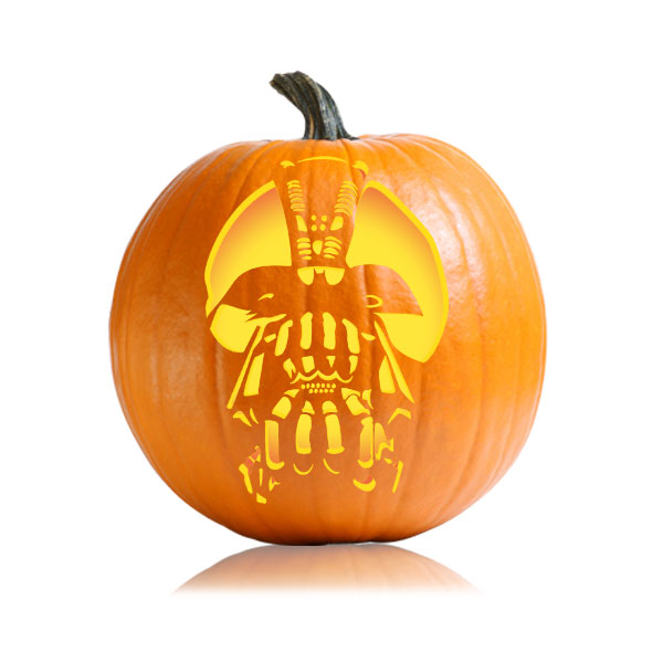 Bane batman dark knight pumpkin pattern ultimate