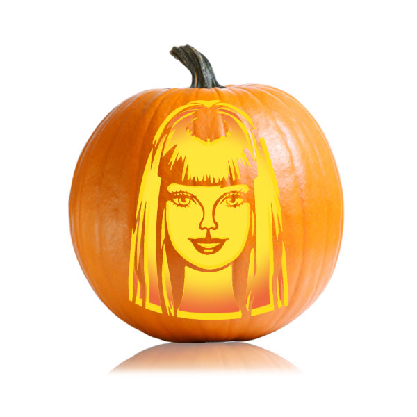 Barbie pumpkin carving pattern ultimate pumpkin stencils pronofoot35fo Images