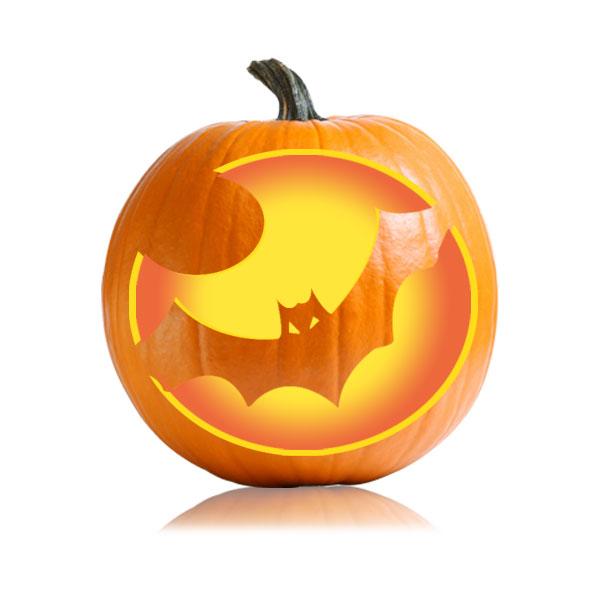 Vampire Bat Pumpkin Stencil