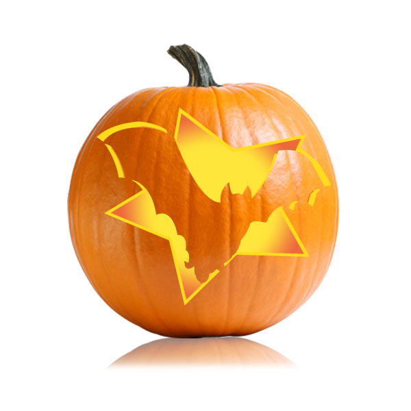 Bat in a Star Pumpkin Pattern