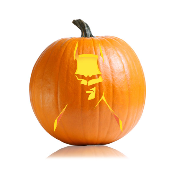 Batman Dark Knight Pumpkin Pattern