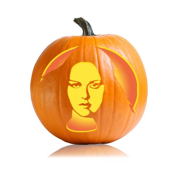 Bella Eclipse Pumpkin Stencil