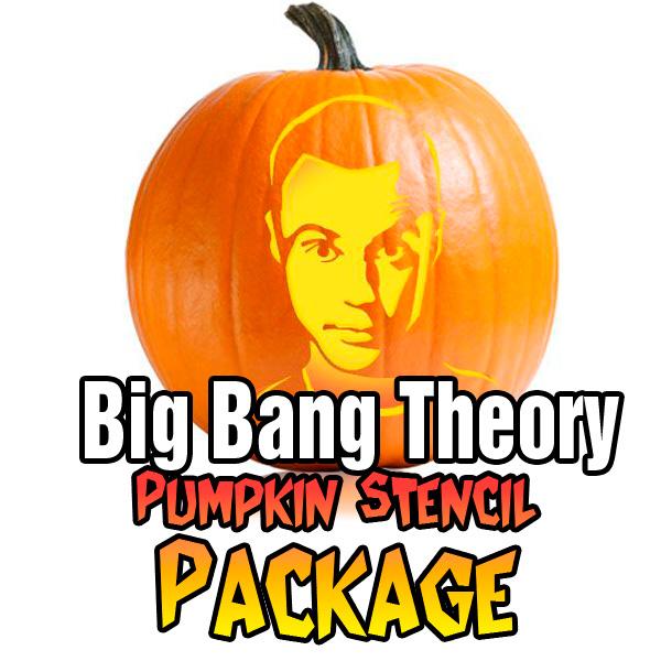 big bang theory pumpkin carving package ultimate pumpkin stencils rh ultimate pumpkin stencils com  bigfoot pumpkin carving stencils