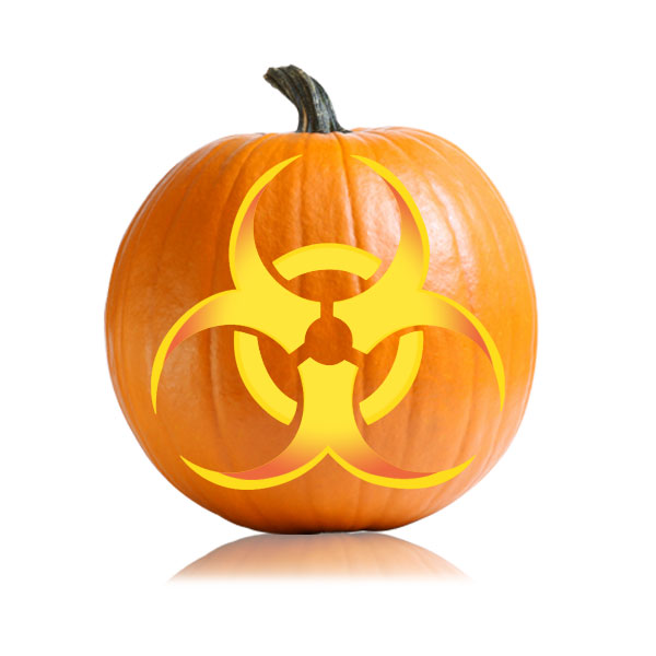 Biohazard Pumpkin Carving Pattern