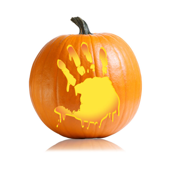 Bloody Hand Pumpkin Pattern