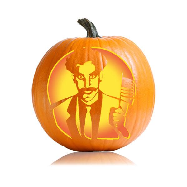 Borat Pumpkin Stencil