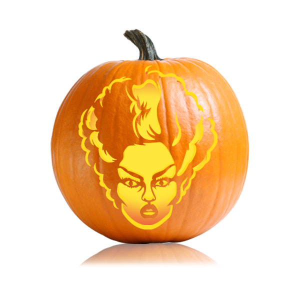 Bride of Frankenstein Pumpkin Pattern