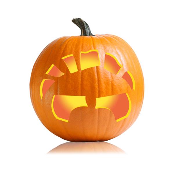 Bucktooth Jack Pumpkin Stencil