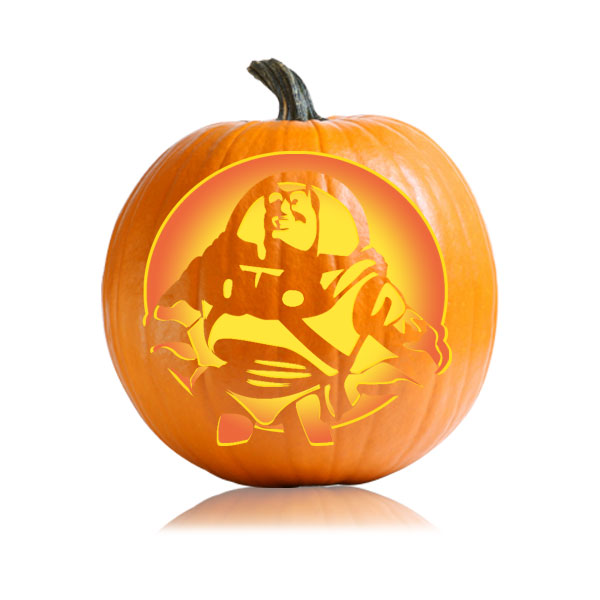 Buzz Lightyear Pumpkin Stencil