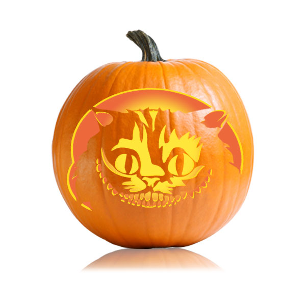 Cheshire Cat Pumpkin Stencils Patterns