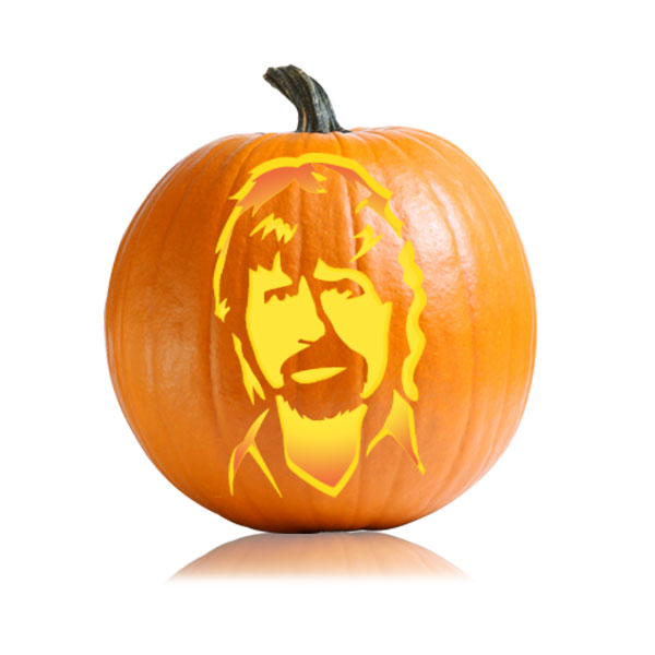 Chuck Norris Pumpkin Carving Pattern