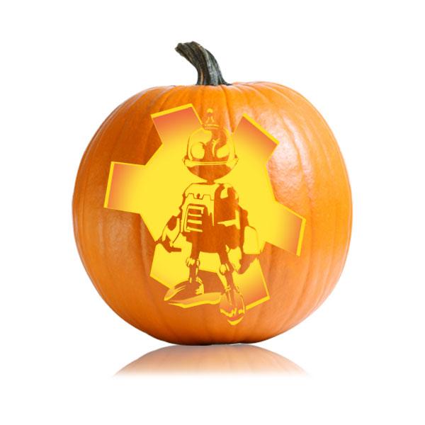 Clank Pumpkin Stencil