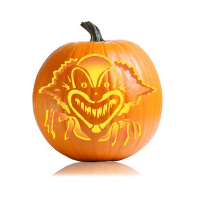 Ultimate pumpkin stencils awesome pumpkin carving for Creepy clown pumpkin stencil