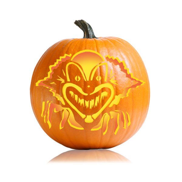 Spooky Clown Pumpkin Pattern