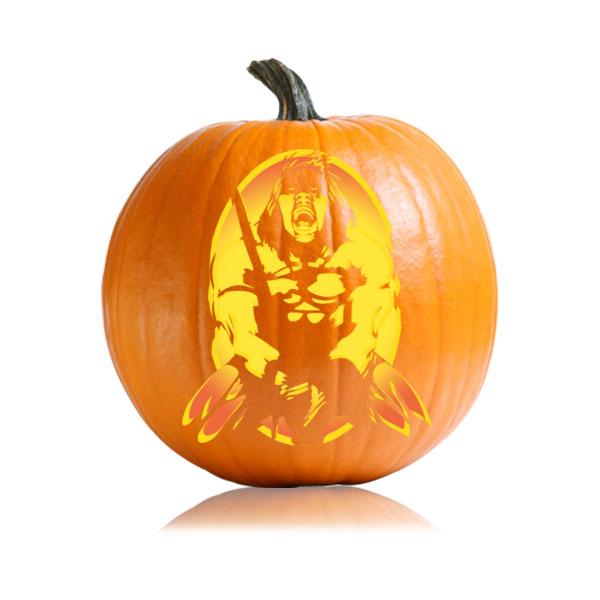 Conan Pumpkin Stencil