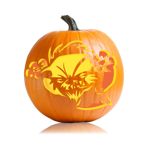 Cute Werewolf Pumpkin Pattern