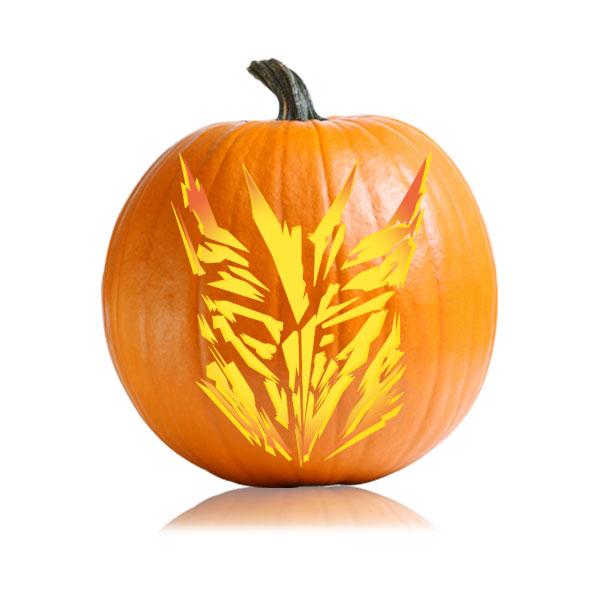 Decepticon 2 Pumpkin Stencil