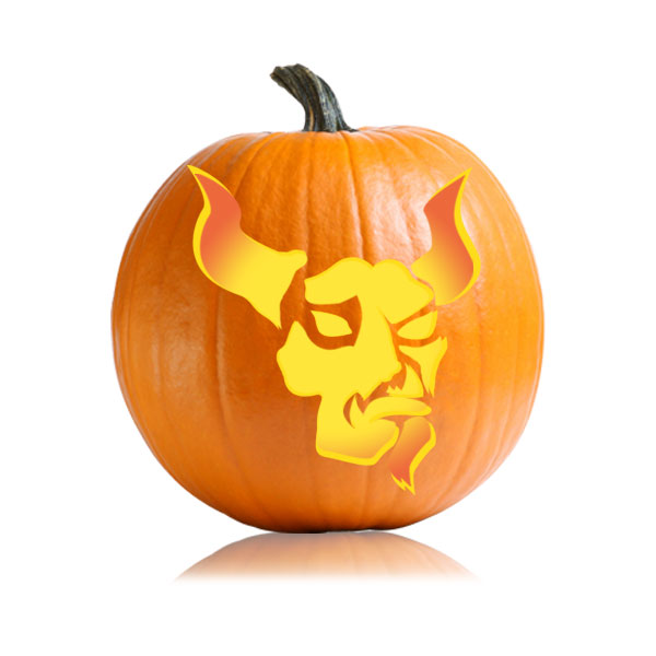 Devil Pumpkin Carving Stencil