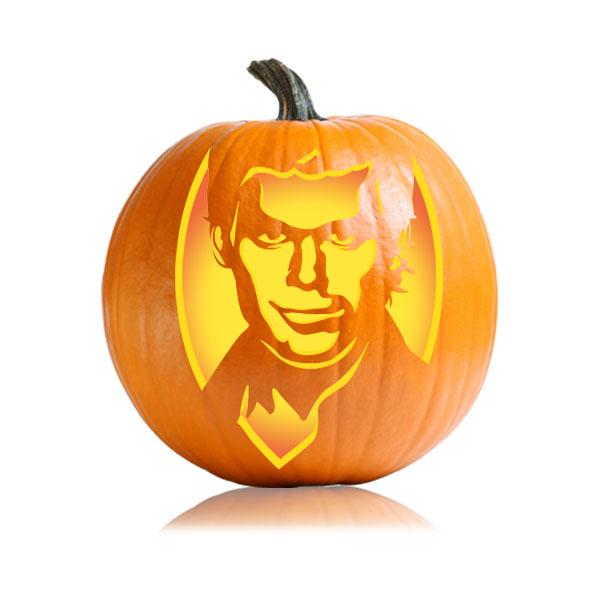 Dexter Pumpkin Stencil