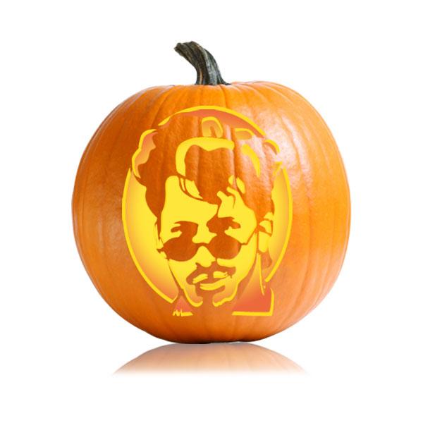 Andy Samberg Pumpkin Stencil