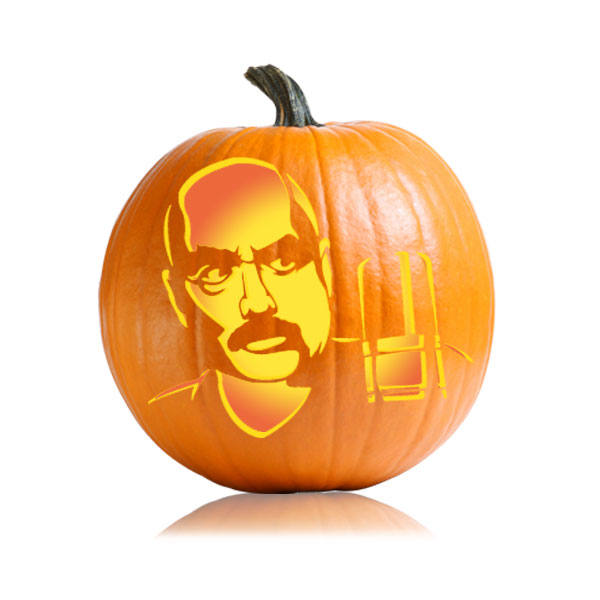 Legendary Don Lafontaine Pumpkin Stencil