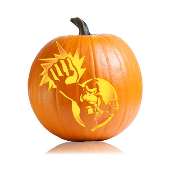 Donkey Kong Pumpkin Stencil