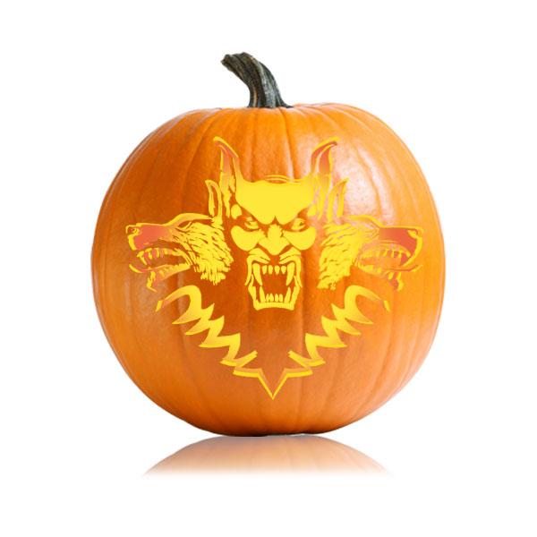 Dracula Pumpkin Stencil