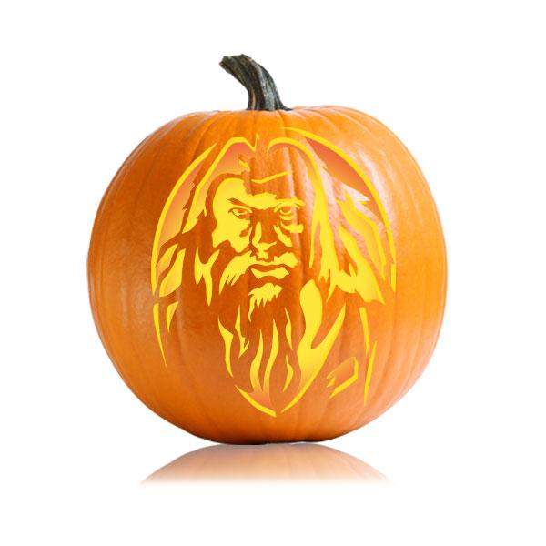 Dumbledore Pumpkin Stencil