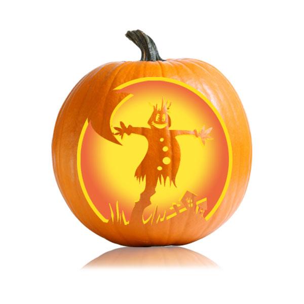 Easy Scarecrow Pumpkin Stencil