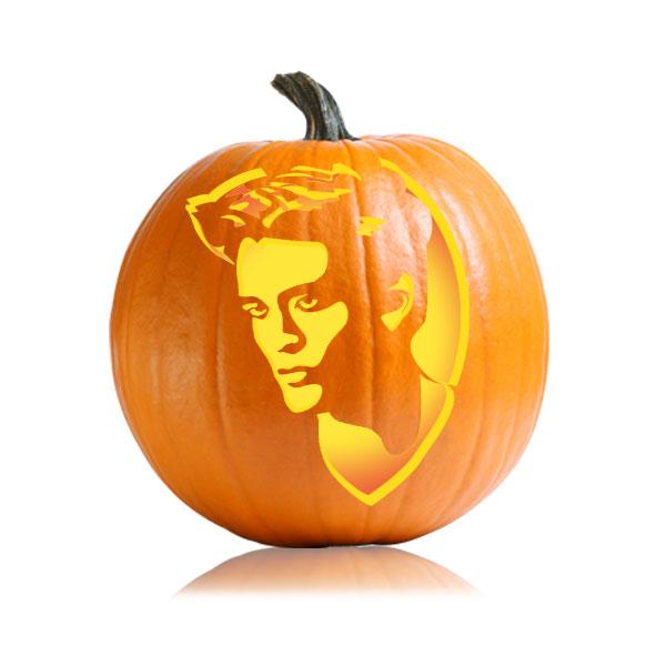 Edward Eclipse Pumpkin Stencil