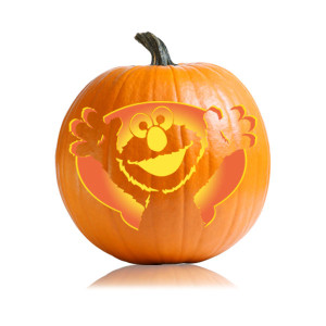 5 pumpkin carving stencil packages for kids halloween for Elmo pumpkin template