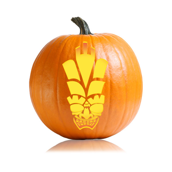 Emperor Tiki Pumpkin Stencil