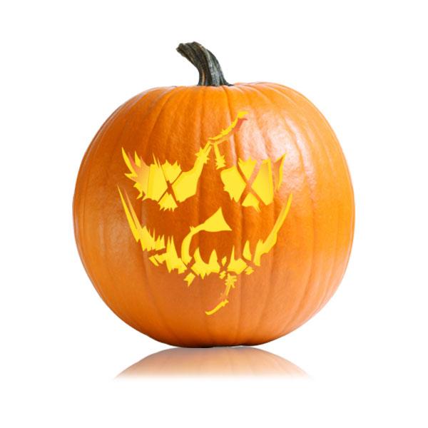 Evil Jack Pumpkin Stencil